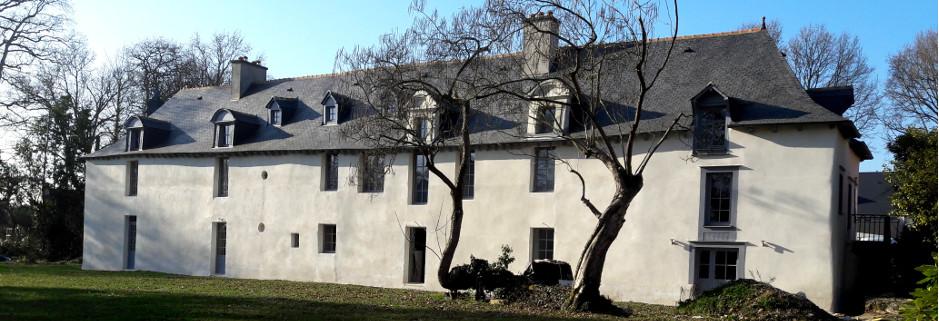 façade est Gîtes du château des Fontenelles, Rennes