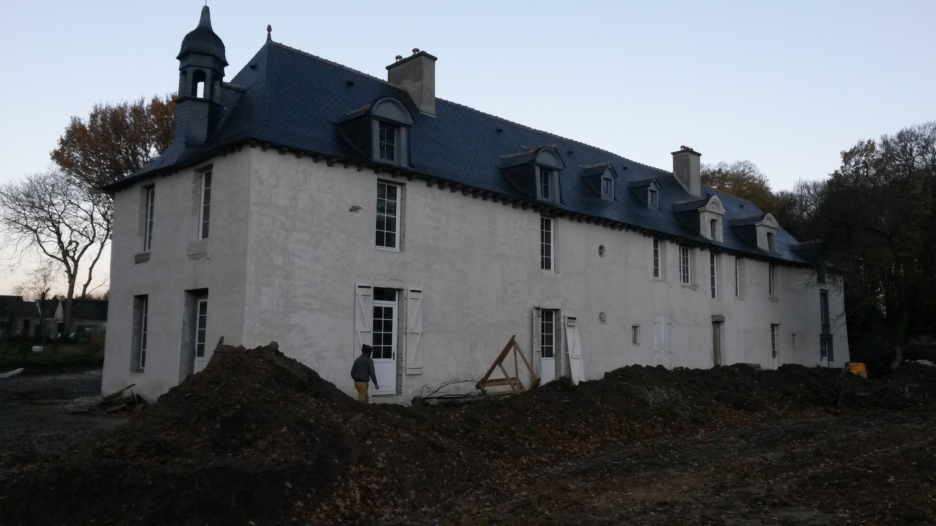 Travaux gîtes Rennes chateau des fontenelles